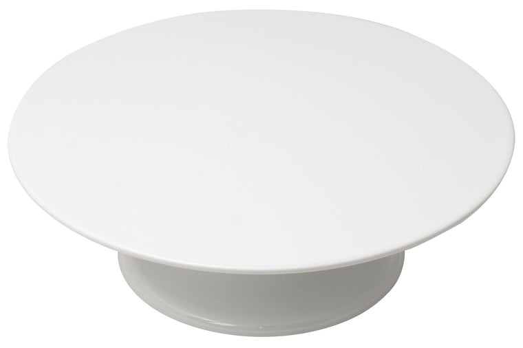 Thermohauser Melamine Rotating Cake Plate / Stand 32x10 cm White