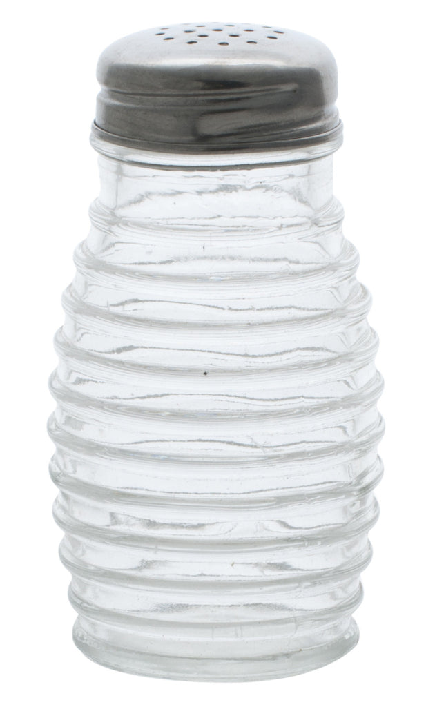 Salt & Pepper Shaker Glass Jars, 2 oz, Ribbed Design