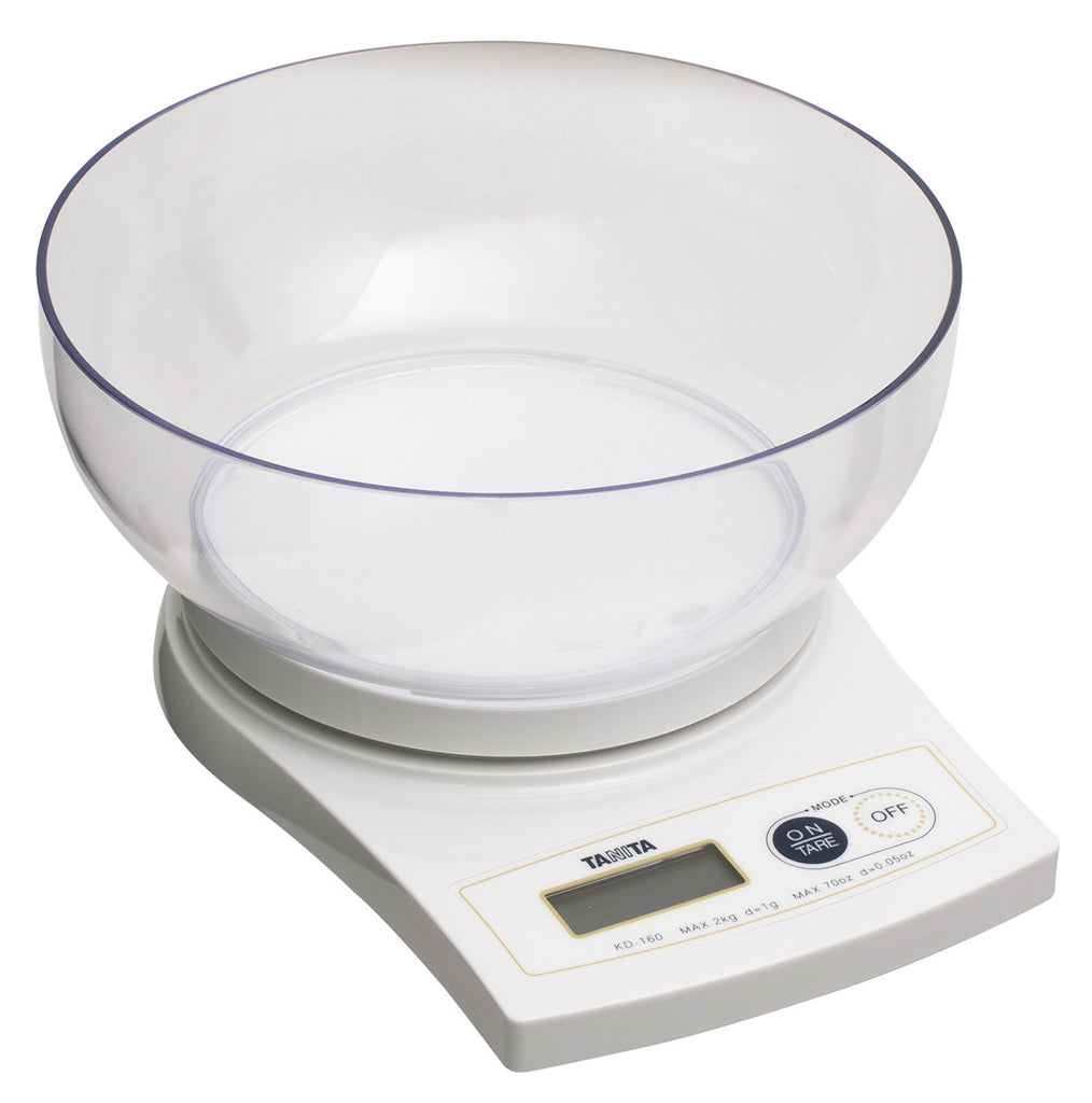 Tanita Digital Scale 2kg, Clear Bowl