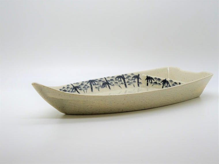 Boat Shape Plate with Compartment