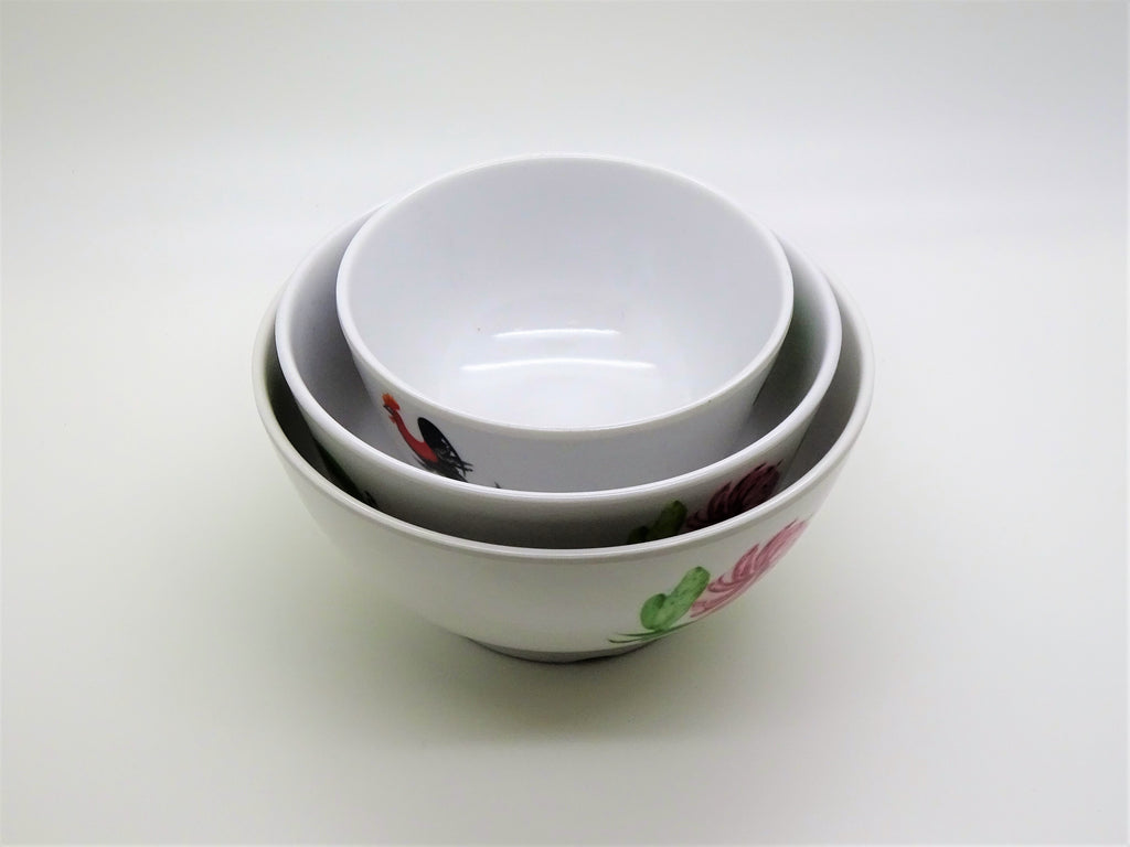 Round Rice Bowl, Set of 6