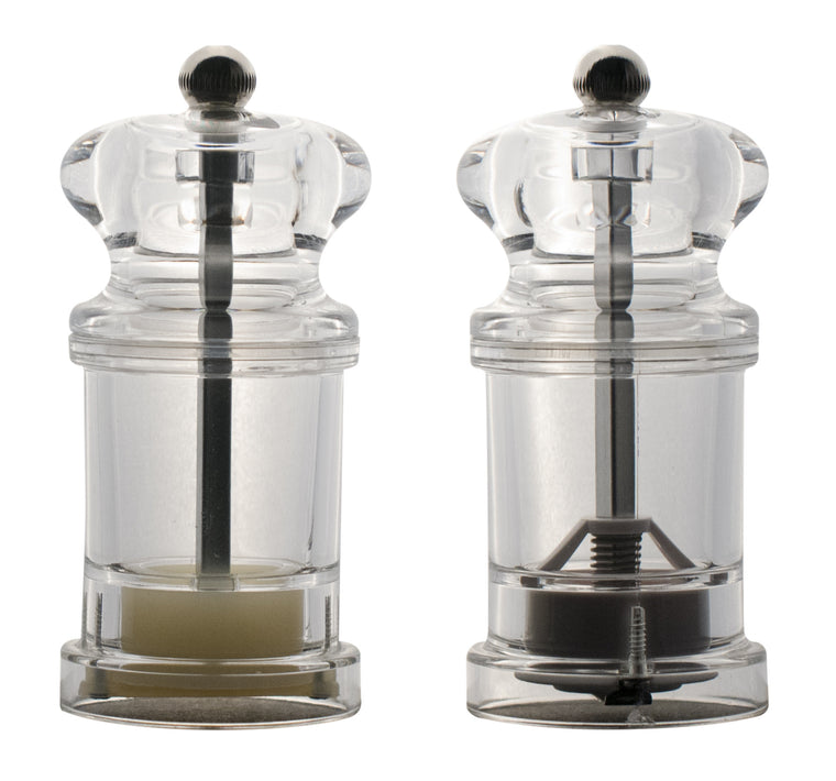 Acrylic Salt & Pepper Mill Set , 4""