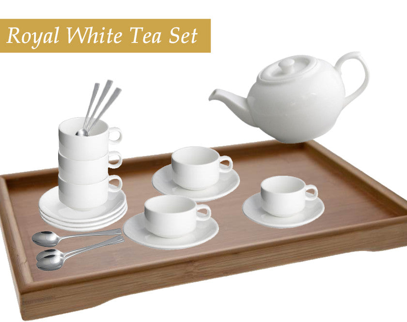 Royal White Tea Set