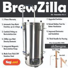 Load image into Gallery viewer, BrewZilla 65L - Gen.3.1.1 EXTENDED 3 YEAR WARRANTY - Three Chins Brewing