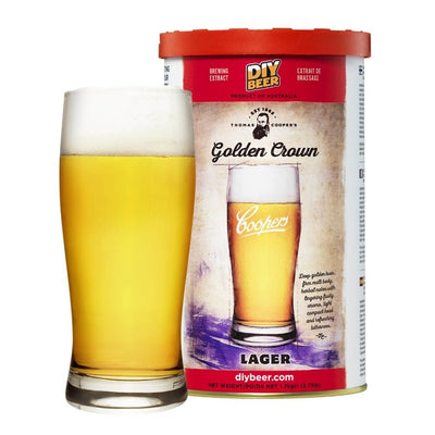 Coopers Golden Crown Lager - Three Chins Brewing