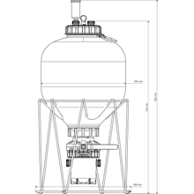 Load image into Gallery viewer, FermZilla - 27L - Conical Uni Tank Fermenter - NOW WITH STAINLESS HANDLE - Three Chins Brewing
