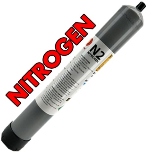 High Capacity Disposable Nitrogen (N2) Gas Cylinder - 1.43L - 110Bar (for Nitro Stout or Coffee) - Three Chins Brewing