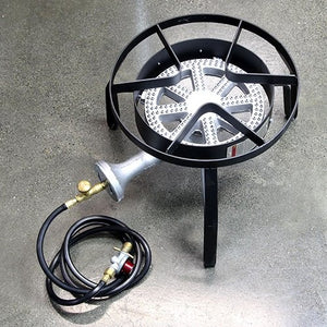High Pressure LPG Burner with Stand and Regulator - Three Chins Brewing