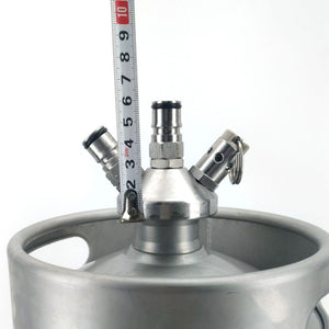 Mini Keg - Ball Lock Tapping Head (with Silicone Dip Tube) - Three Chins Brewing