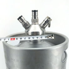 Load image into Gallery viewer, Mini Keg - Ball Lock Tapping Head (with Silicone Dip Tube) - Three Chins Brewing