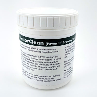 StellarClean PBW (Powerful Brewing Wash) - Brewery Cleaner, Beer Line Cleaner, Keg Wash (1kg 35oz) - Three Chins Brewing