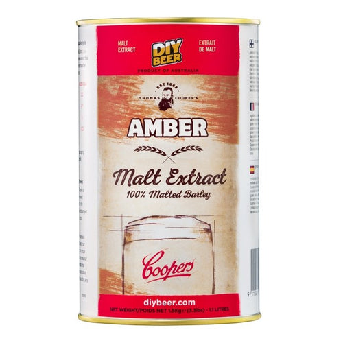 THOMAS COOPERS AMBER MALT EXTRACT (1.5KG) - Three Chins Brewing