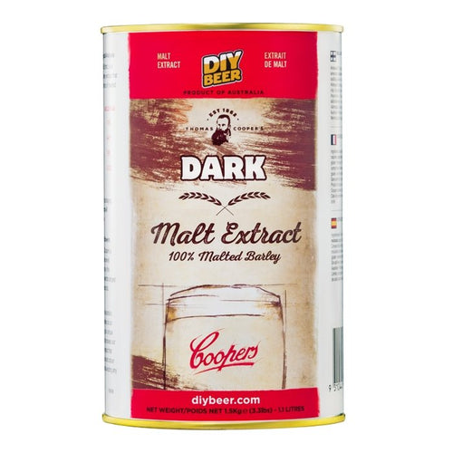 THOMAS COOPERS DARK MALT EXTRACT (1.5KG) - Three Chins Brewing