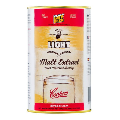 THOMAS COOPERS LIGHT MALT EXTRACT (1.5KG) - Three Chins Brewing