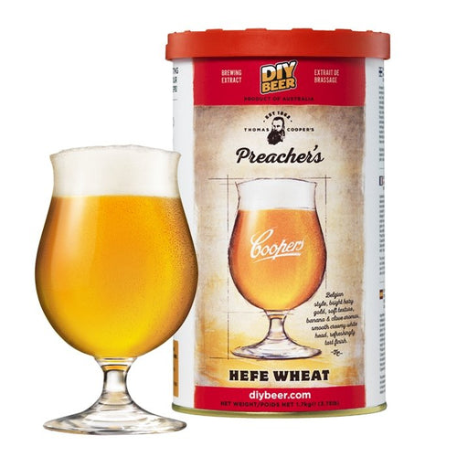 THOMAS COOPERS PREACHER'S HEFE WHEAT (1.7KG) - Three Chins Brewing