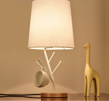 Load image into Gallery viewer, LED Table Lamps With Cloth Lampshade