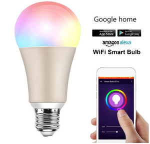 WiFi Smart Light LED Bulb E26 60W Equivalent Warm White RGB Homekit