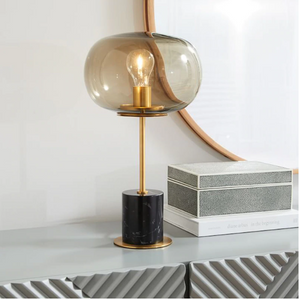 Post modern marble table lamps