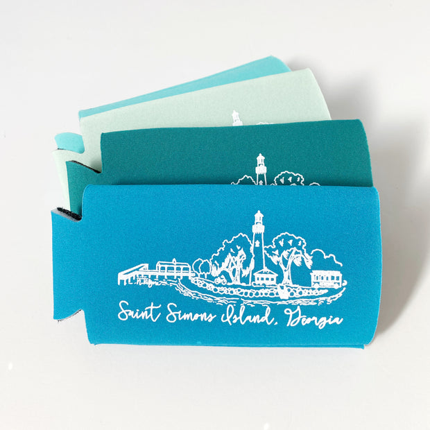 Saint Simons Island Slim Can Holder