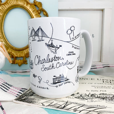 Charleston, South Carolina Map Mug