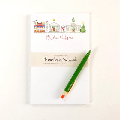 Athens, Georgia Holiday Personalized Notepad