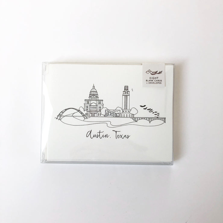 Austin, Texas Skyline Notecard Set