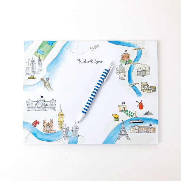 Maps of the World Personalized Notepad