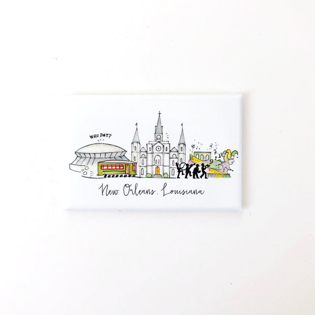 New Orleans, Louisiana Skyline Magnet