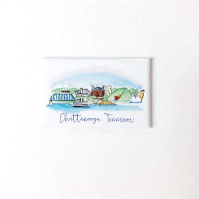 Chattanooga, Tennessee Skyline Magnet