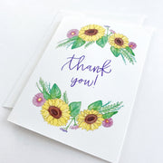 Sunflower Floral Thank You