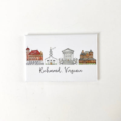 Richmond, Virginia Skyline Magnet