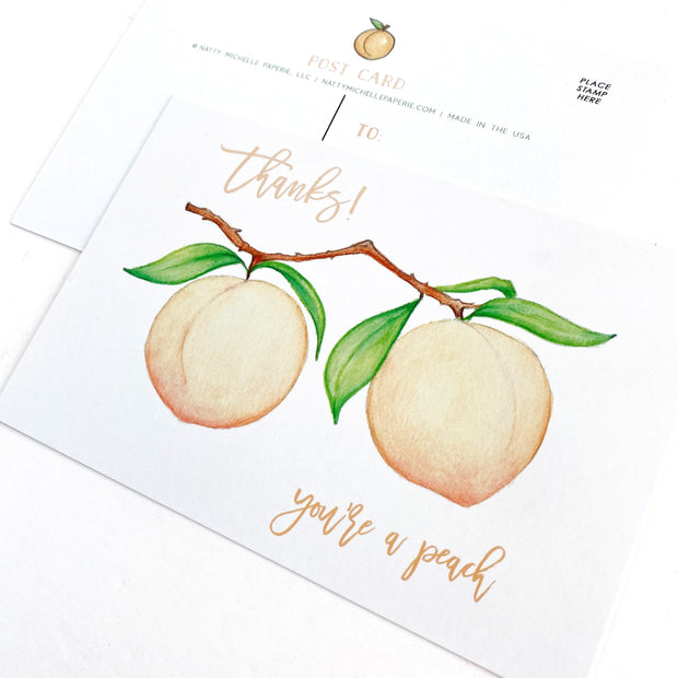 You're a Peach Postcards