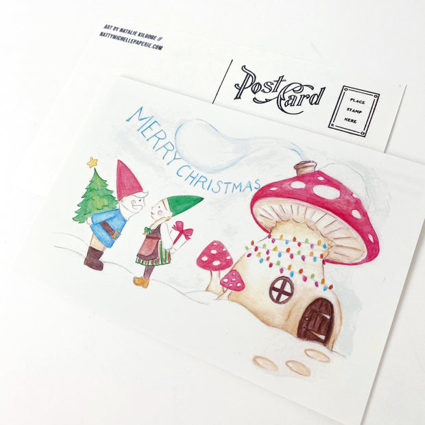 Gnome for the Holidays Postcards