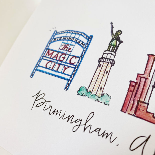 Birmingham, Alabama Skyline