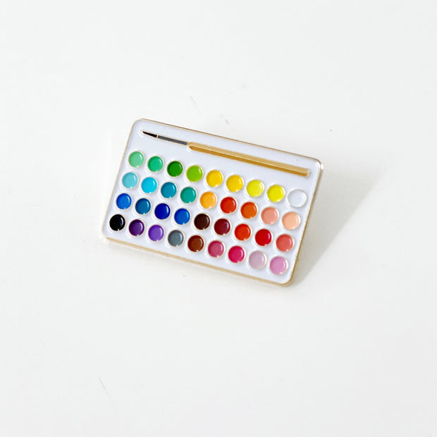Watercolor Palette Enamel Pin