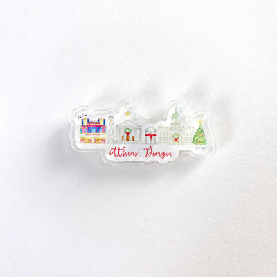 Athens Holiday Acrylic Pin
