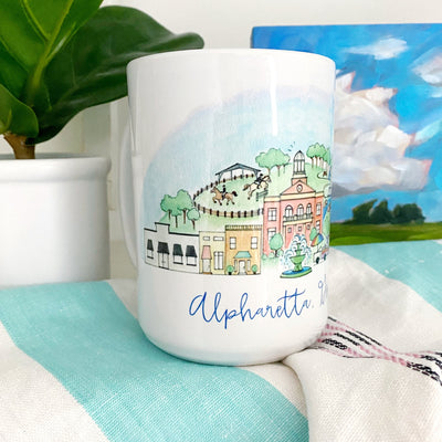 Alpharetta, Georgia Watercolor Mug
