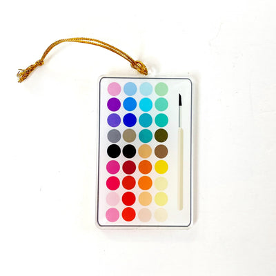 Paint Palette Acrylic Ornament