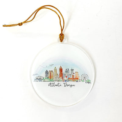 Atlanta Skyline Acrylic Ornament