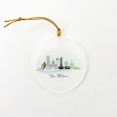 Tulsa Skyline Acrylic Ornament