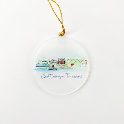 Chattanooga Skyline Acrylic Ornament