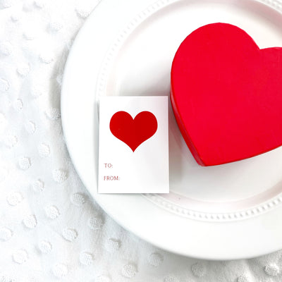 Red Heart Gift Tags