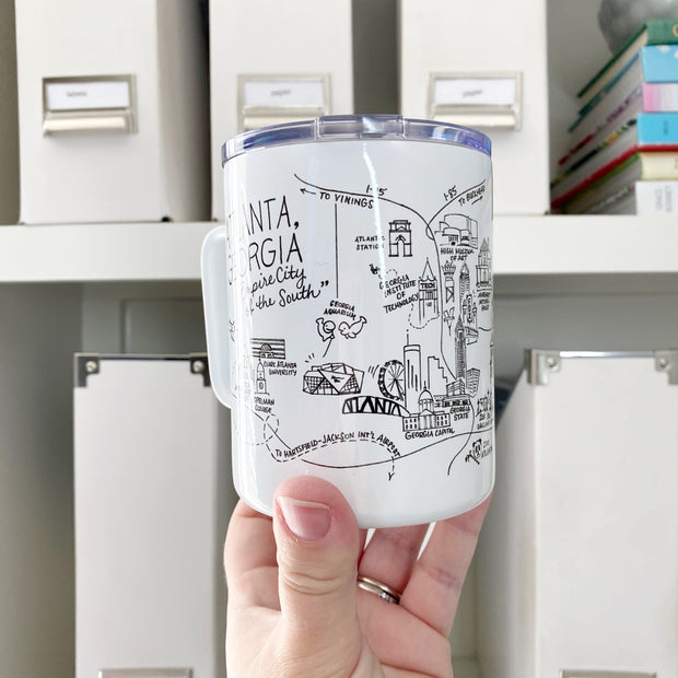 Atlanta Map Travel Mug
