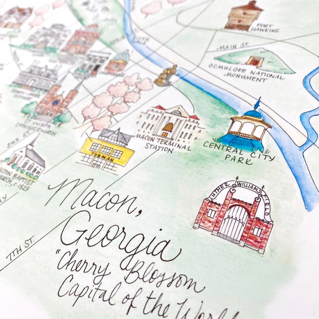 Macon, Georgia Map