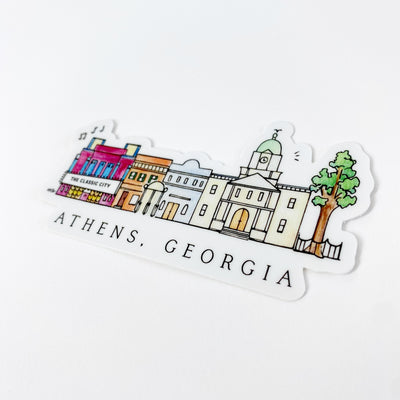 Athens Skyline Sticker