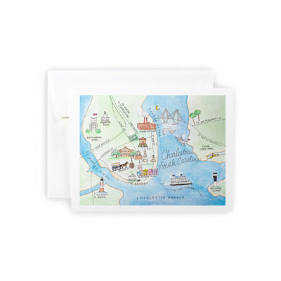 Charleston, South Carolina Watercolor Map
