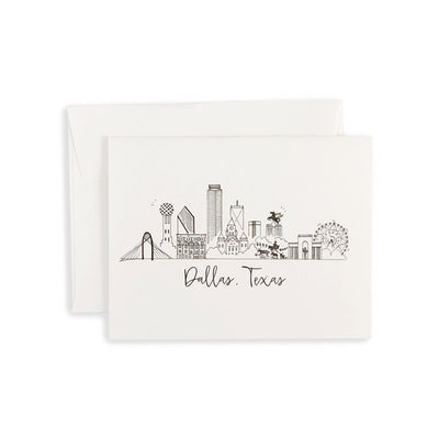 Dallas, Texas Skyline Notecard Set