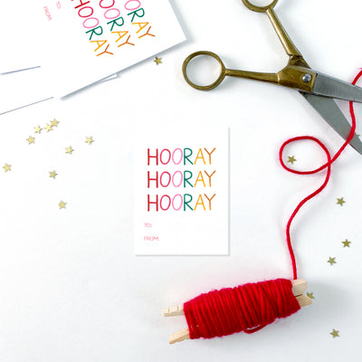 Hooray Gift Tags
