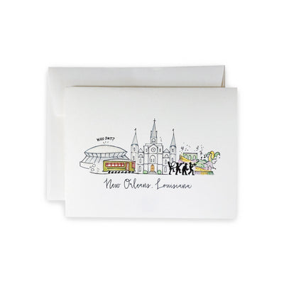 New Orleans Skyline Notecard Set