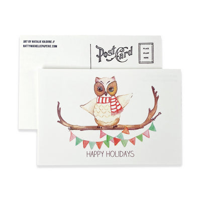 Happy Owlidays Postcards